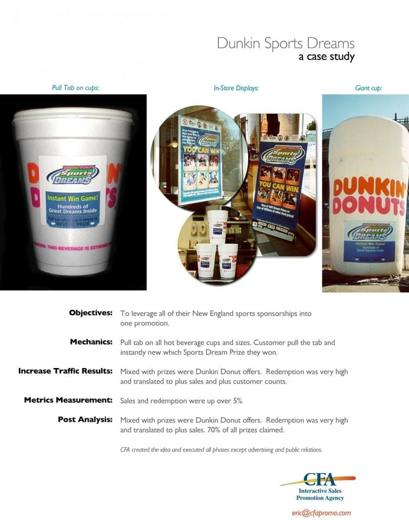 Dunkin Donuts contest admin